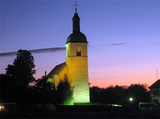 church_thollon_night